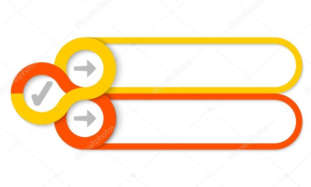 Dos Cuadros De Texto Y áreas Circulares Para Los Iconos