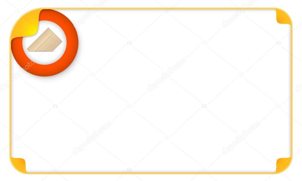 Farbe Rahmen für Ihren Text und Umschlag — Stockvektor © garrifrotto ...