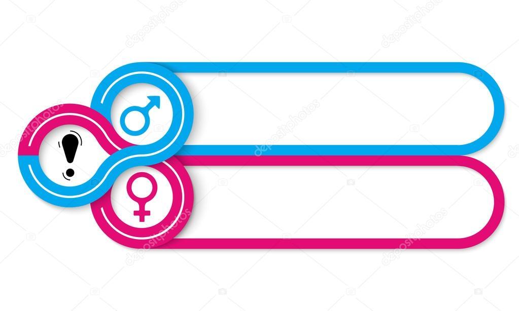 Simbolo Mujeres Y Hombres Dos Cuadros De Texto Y Símbolo De Hombre
