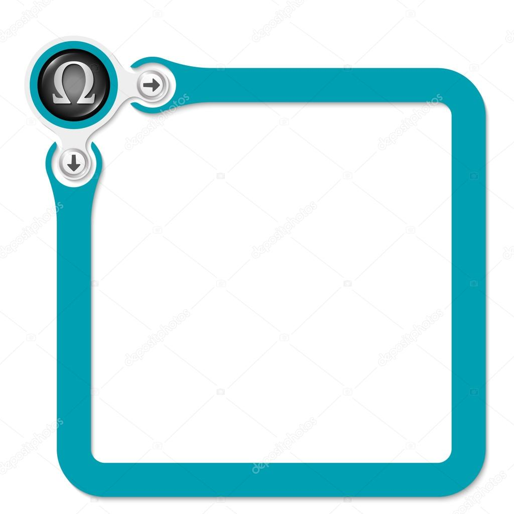 Green frame for your text and omega symbol stock vector green frame for your text and omega symbol stock vector biocorpaavc Gallery