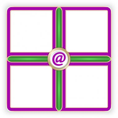 Vector purple frames for your text and email symbol