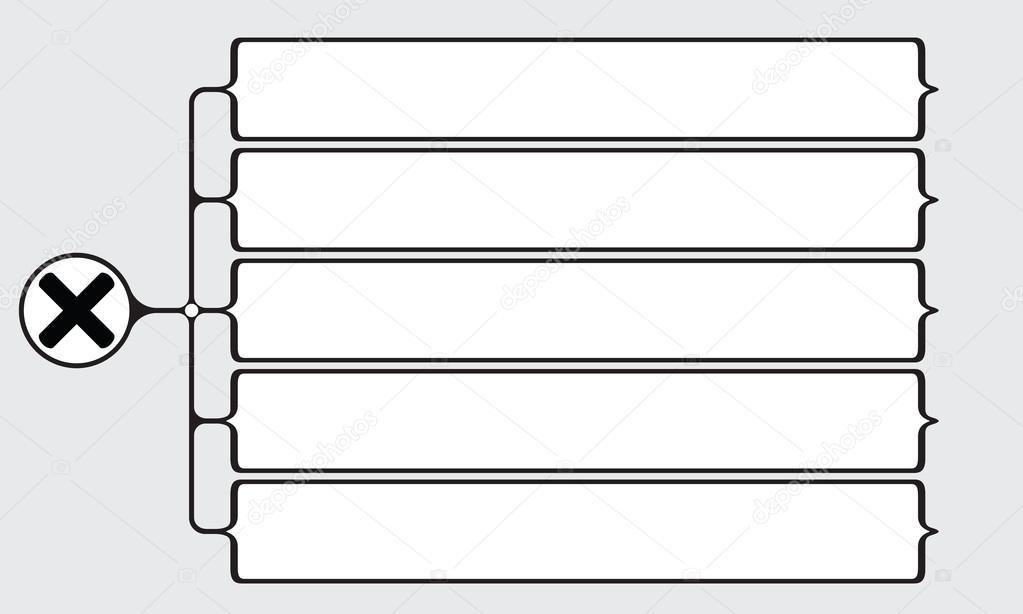 Vector Vierkante Haken Voor Uw Tekst En Het Pictogram Van