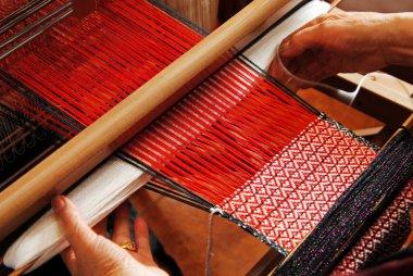 Traditional weaving hand loom