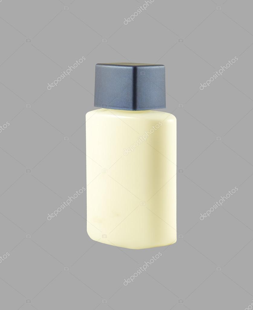 Isolated blank cosmetic bottle