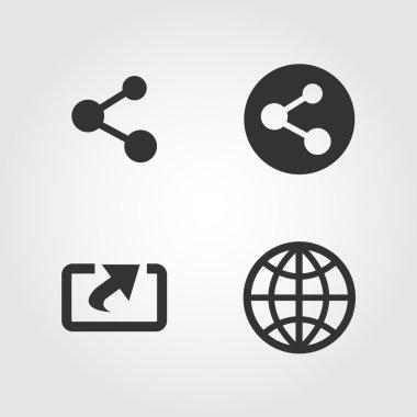 Share icons set, flat design