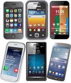 Chytré telefony vektorových
