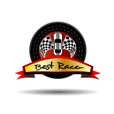 Best Racer Vector Icon