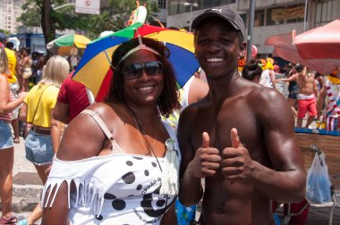 people at carnival street in Flamengo Park