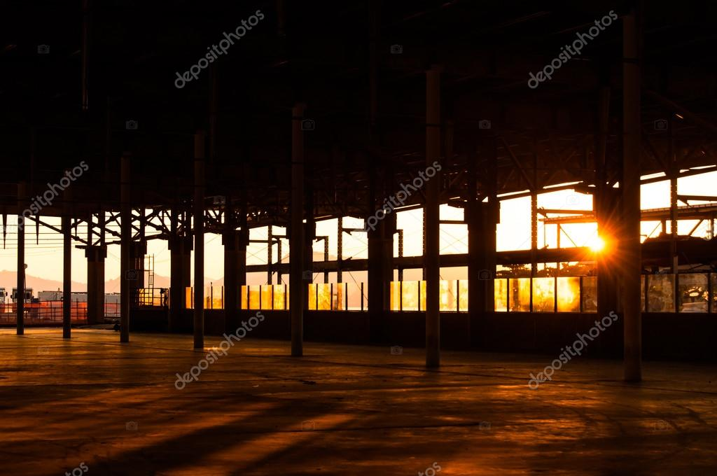 Empty Warehouse windows
