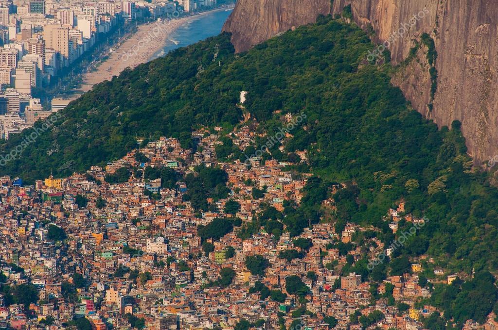 Picturesque aerial  view of Favela da Rocinha