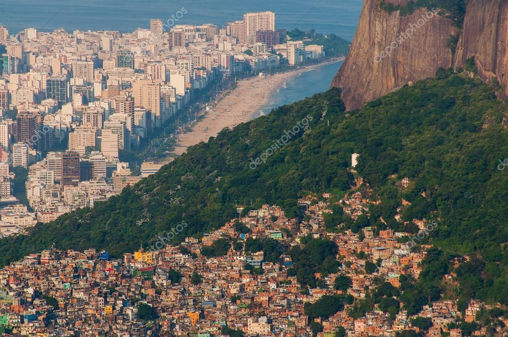 Picturesque aerial  view of Favela da Rocinha