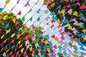 Fotografie Colorful carnival flag garlands