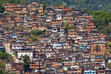 Skyline of Rio de Janeiro Slums