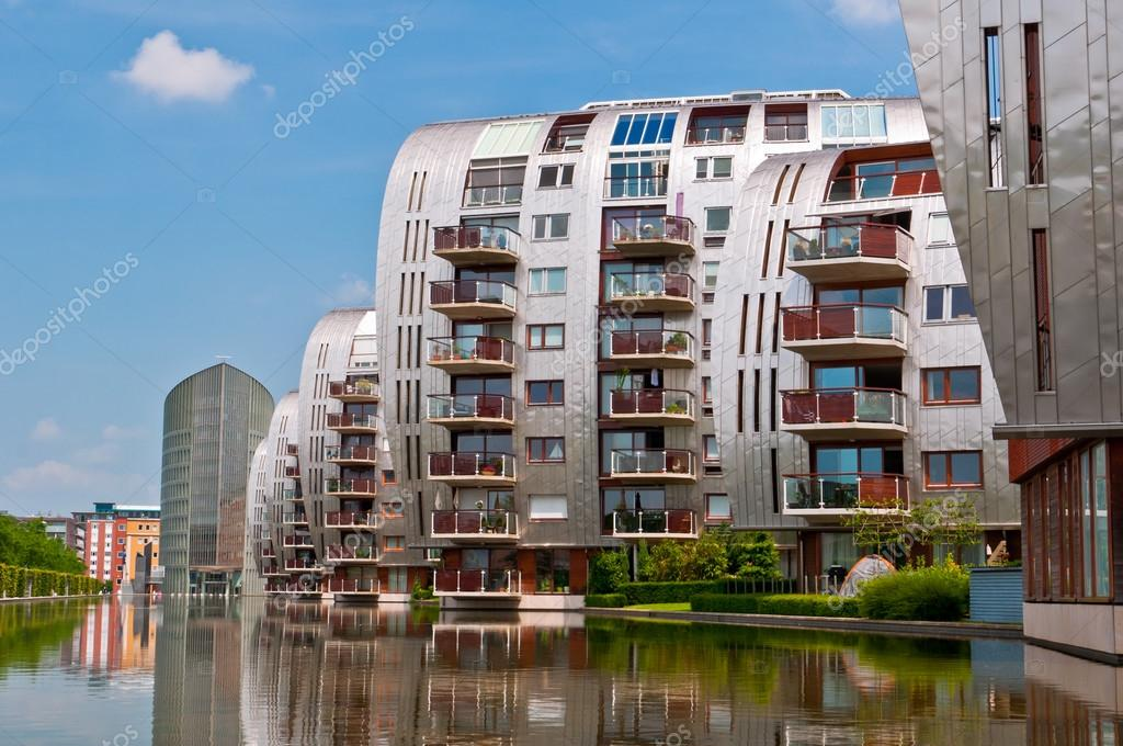 DEN BOSCH, NETHERLANDS   JULY 6, 2013: Modern Apartment Buildings In Den  Bosch. Unique Architecture Residential Buildings In A New Nice Neighborhood  Near To ...