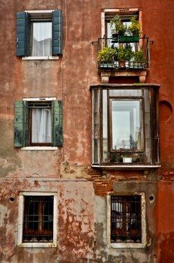 Venetian Windows on the Facade