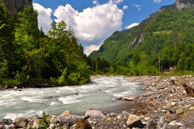 Picturesque mountain river