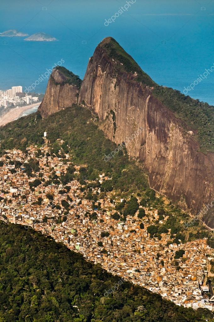 Aerial view of Favela da Rocinha