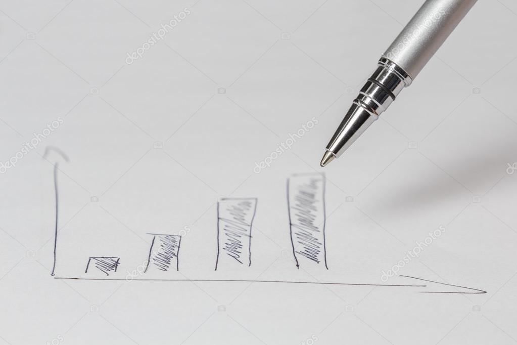 zeichnen ein Diagramm — Stockfoto © kunertus #63664605