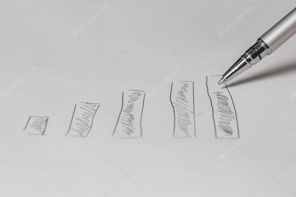 zeichnen ein Diagramm — Stockfoto © kunertus #63667147