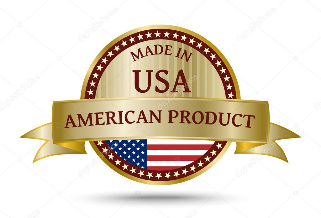 Made In The Usa Gouden Badge Stockvector Violka08 101090790