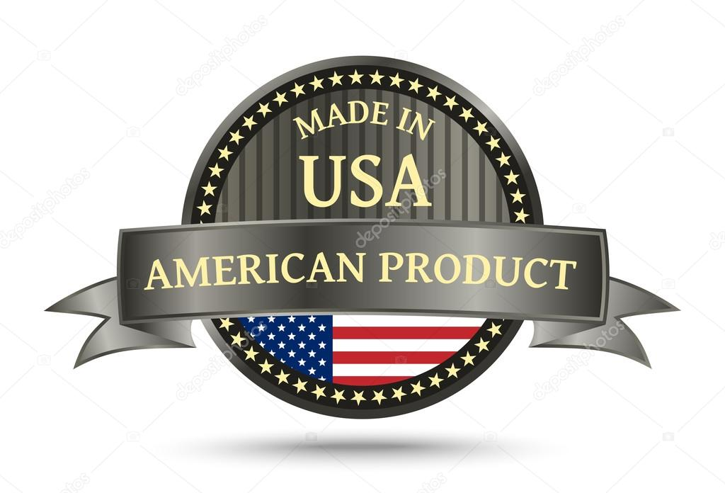 Made In The Usa Metal Badge Stock Vector Violka08 104907418