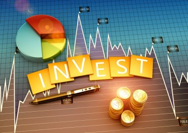 Financial graph of investment