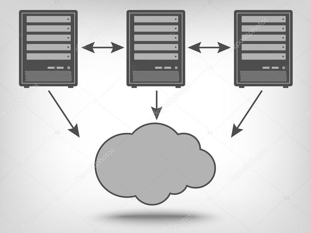 Icon of computer servers