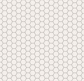 Abstrakte schwarz-weiß Waben nahtlose Muster