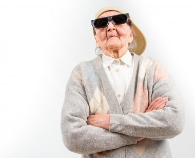cool grandma stands for her right