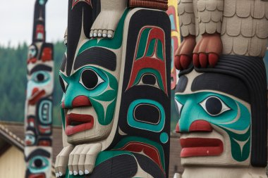 Totem pole by native Americans