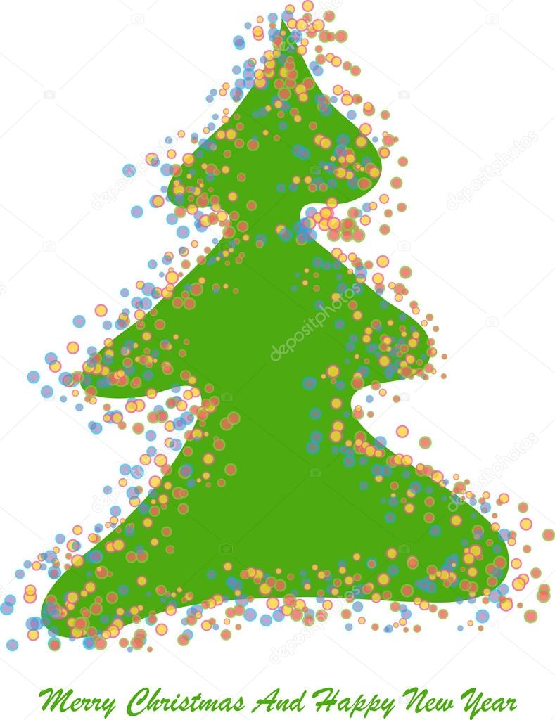 Color vector christmas tree with lights — Stock Vector © pizla09 ...