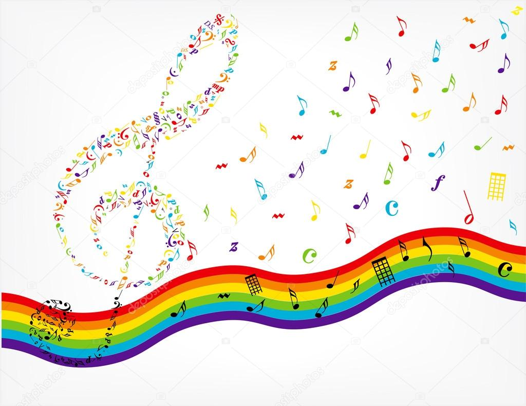 8589130490590 Rainbow Music Notes Wallpaper Hd Jpg: 스톡 벡터 © Pizla09 #53739439