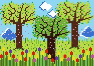 Color spring garden