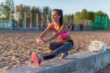 Fitness model athlete girl