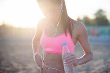 Beautiful fitness athlete woman