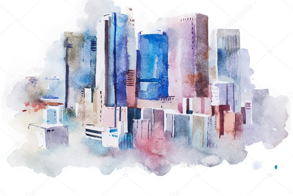 cityscape big city downtown