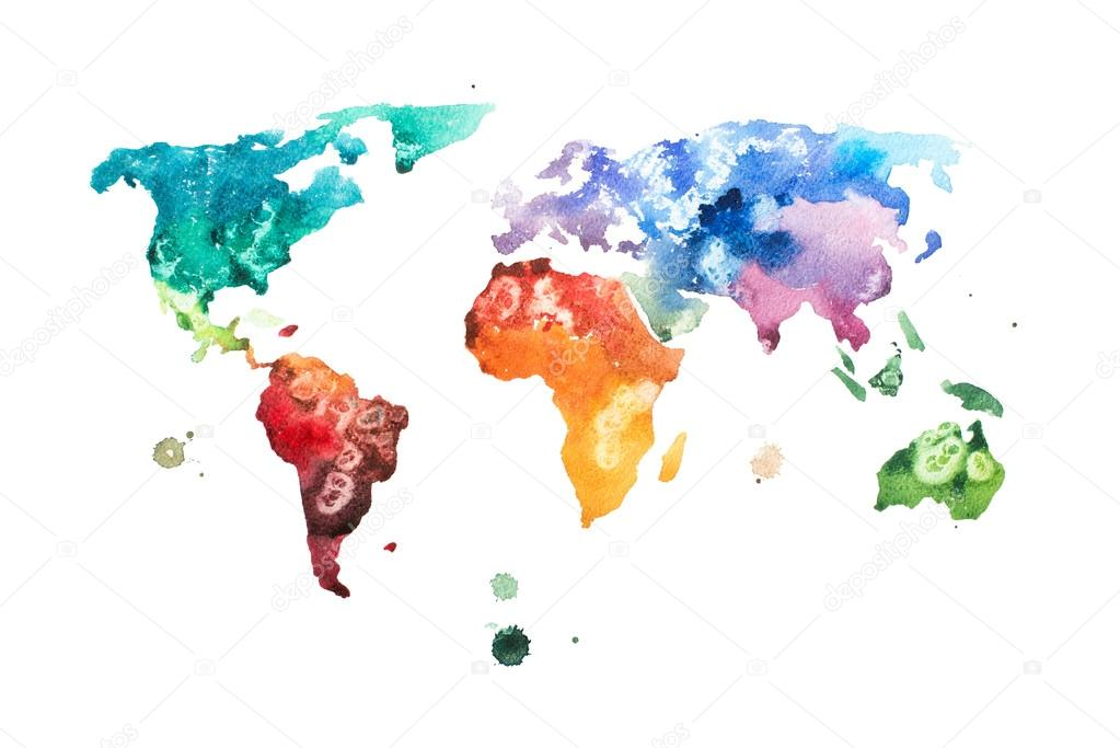 Hand drawn watercolor world map stock photo undrey 116939966 hand drawn watercolor world map stock photo gumiabroncs Images