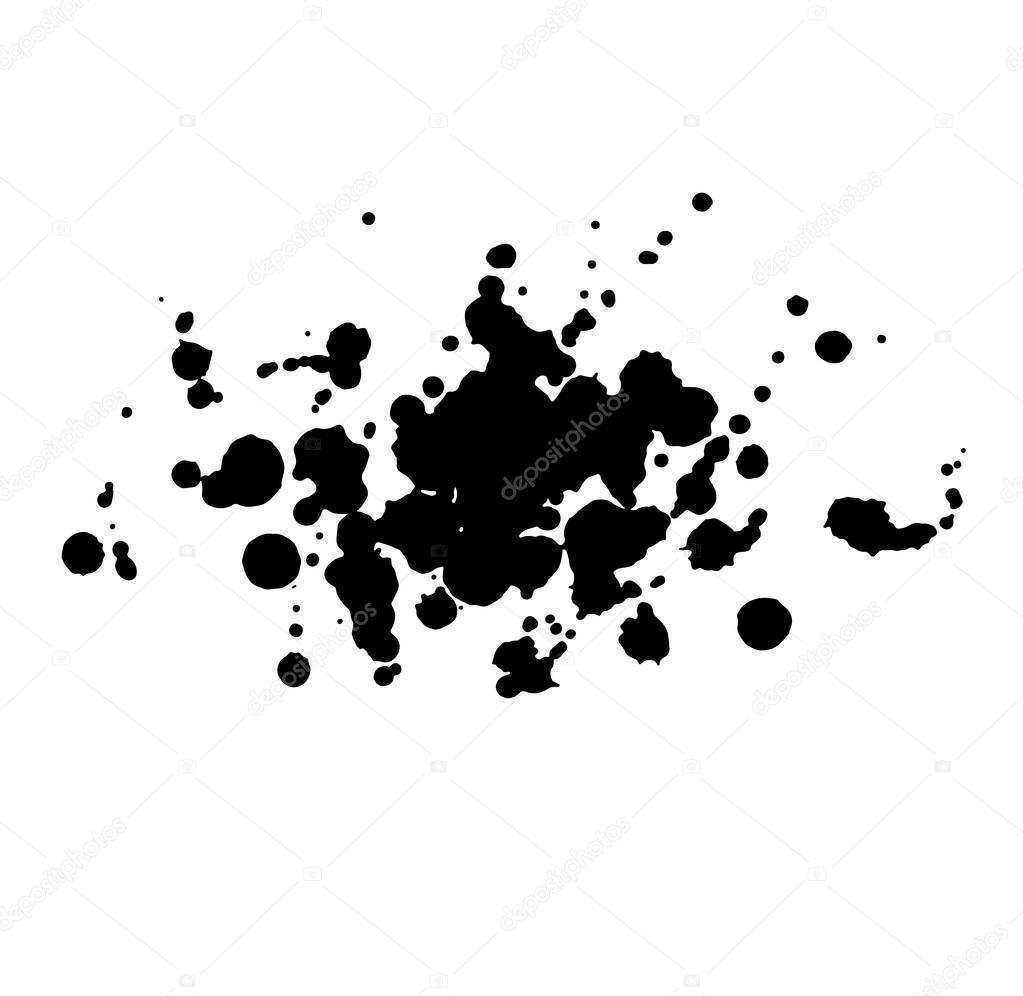 abstrait aquarelle aquarelle dessin s la main goutte noire splatter tache art peinture sur. Black Bedroom Furniture Sets. Home Design Ideas