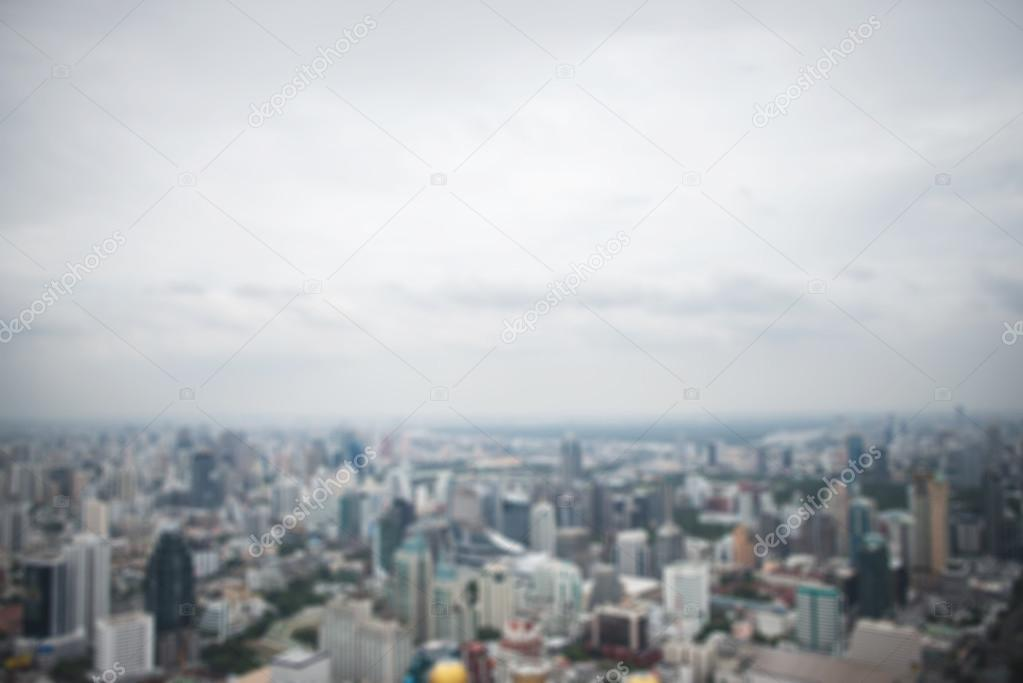 panoramic aerial view big city town blurred background