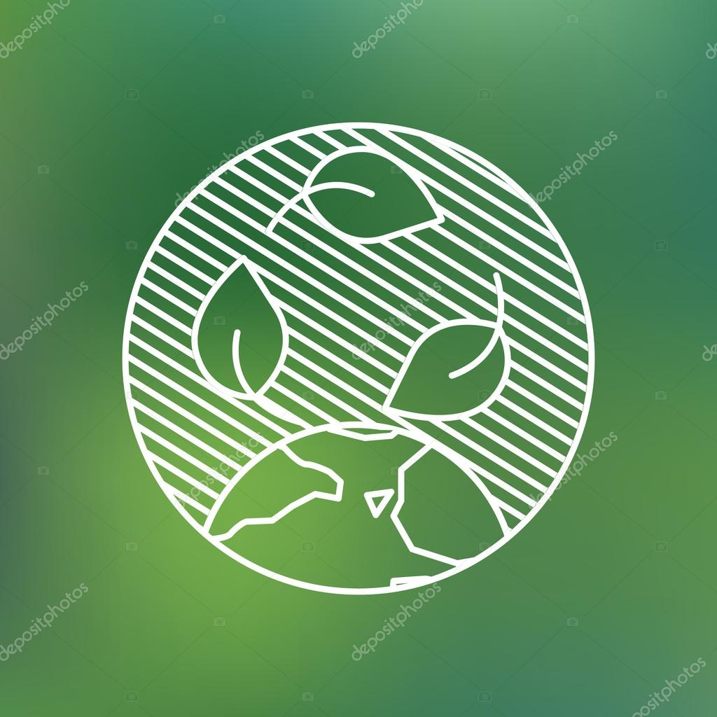 Earth globe leaves planet protection care recycling save ecology concept.