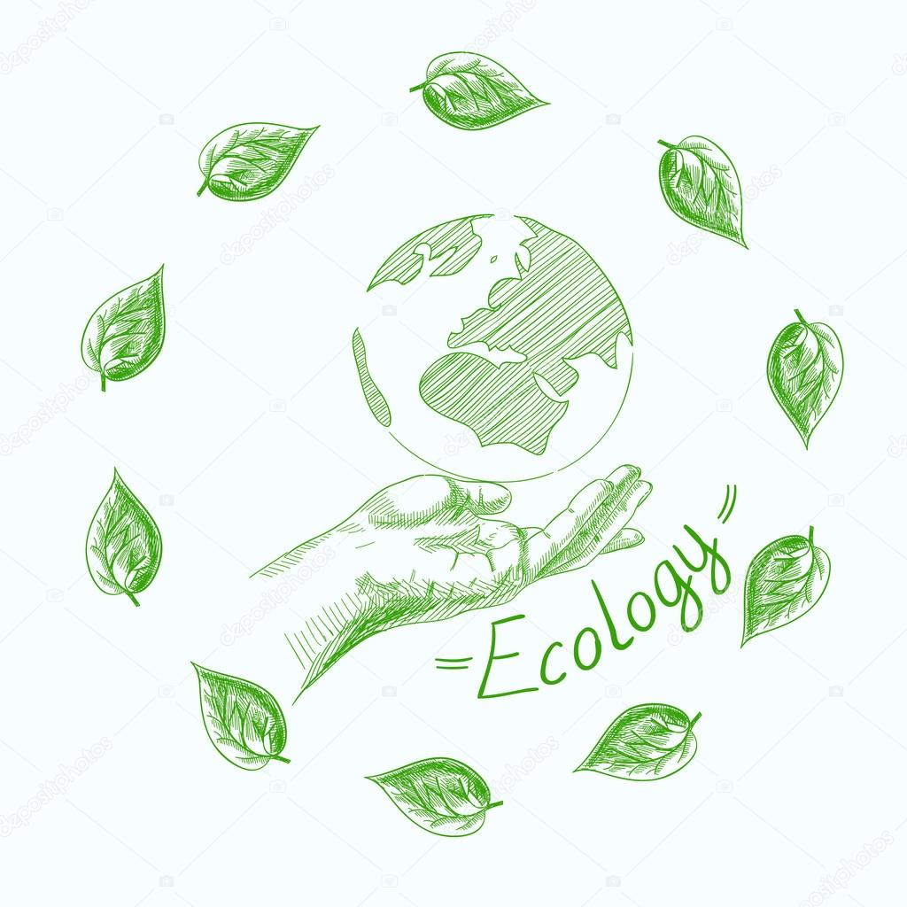 Earth globe in human hands planet protection care recycling save ecology concept
