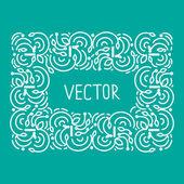 Hand drwan emblem abstract template Elegant lineart logo outline elegant calligraphic monogram.