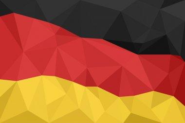 Abstract creative triangle geometrical mosaic Germany flag