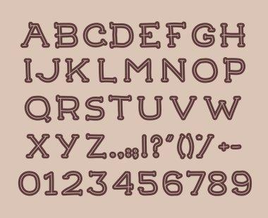 Hand drawin alphabet