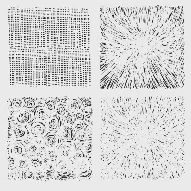 Set of rough hatching drawing texture