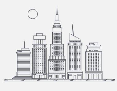 Business center of big city