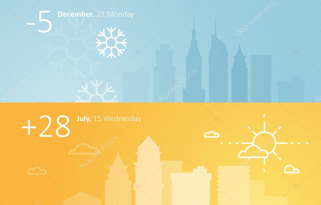 Weather widgets template
