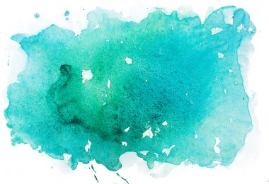 Abstract watercolor aquarelle paint hand drawn colorful splatter stain.