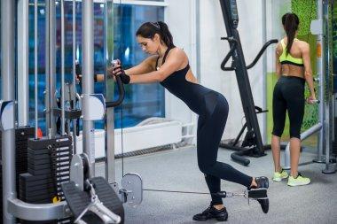 Woman fitness club or gym