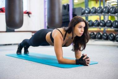 portrait training athletic sporty woman